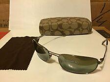 NEW COACH -  Legacy - S502 Sunglasses, (315) Chrome / Green-Grey Mirror Lens