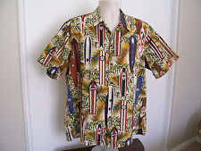 RJC Short Sleeve Surfboard Print Hawaiian Shirt Made in Hawaii Mens XL NWOT