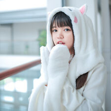 Gintama Sadaharu Anime Kawaii 3in1 Cat Ears Hat Scarf Gloves For Girlfriend Gift