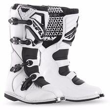 Fly Racing Maverik Boots 2016 White Adult Motocross MX Dirtbike SIZE 10