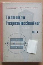 DDR Lehrbuch Fachkunde Frequenz Mechaniker Verteilung VDE Strom Metall Drehen