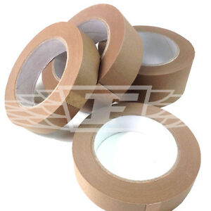 25mm 38mm 50mm 75mm ECO BROWN SELF ADHESIVE KRAFT PICTURE FRAMING PAPER TAPE