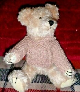 """VINTAGE UNCLE BEANS BEAR JOINTED TEDDY """"ANDY"""" 26 CM CIRCA 1986 COLLECTABLE - TAG"""