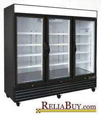 72cf Commercial 3-Door Glass Door Display Ice Cream Merchandiser Freezer NEW!