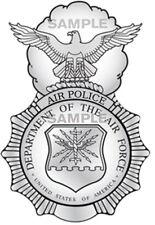 Usaf Air Police Badge Decal