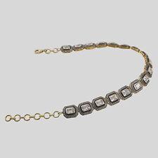 18k Gold Rosecut Diamond Polki  CHOKER Necklace Jewelry