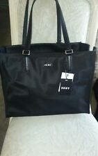 Authentic Dkny Women S Black Nylon Genuine Leather Tote