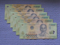 Vietnam 500,000 x 2  -  1,000,000 Dong Currency VND Banknotes