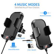 Car FM Transmitter Bluetooth Handsfree MP3 QC3.0 USB Fast Charger Phone Holder