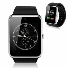 Smart Bluetooth Wrist Sport Watch SIM Camera for IOS Android Samsung Silver