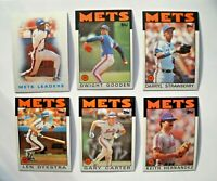 1986 Topps New York Mets Team Set (33 Cards) World Series