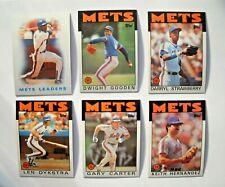 1986 Topps New York Mets Team Set (33 Cards) World Series