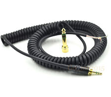 New Repair Coiled DJ Cable Wire Plug For Sony MDR ZX 500 ZX 700 ZX701 Headphone