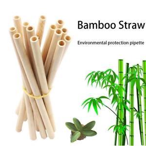 Natural Bamboo Straws Reusable Eco-Friendly Party Kitchen Straws Straight Drinki