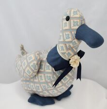 """Hand Crafted Fabric Duck 15"""" inches Tall"""