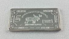 999 Silber Silberbarren Silver 5 Gramm Elch American Wildlife Serie NEU - EDEL