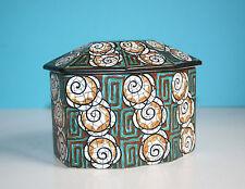 Art Deco / Sarreguemines Keramik Dose / Decor 2325 / um 1920