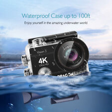 Dragon Touch Vision 3 Action Sports Camera 4K Touch Screen Camcorder Waterproof