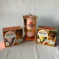 Vintage PINK Solo Cup Bathroom Dispenser & 100 Plastic Refill Cups Retro PROP