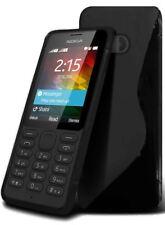 Nokia 215 Super Quality S-Line Hydro Silicone S line Skin Cover Pouch - Black
