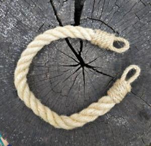 Set of 2 Thick Jute Rope Curtain Tiebacks, Chunky Tieback, Nautical Tieback
