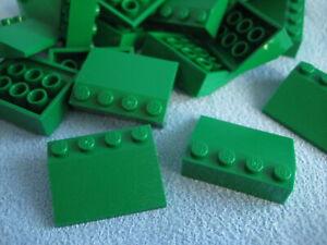 LEGO 2x Dachstein invers 8x6x2 Noppen in Grün . 45410