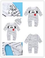 Infant Baby Boys Romper Jumsuits Toddlers Long Sleeves Animal Printed Bodysuits