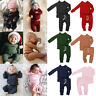 US Infant Baby Boy Girl Tops + Pants Outfits Pajamas Pjs Set Sleepwear Clothes