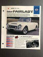 "1961 - 1969 Datsun Fairlady Roadster IMP ""Hot Cars"" Spec Sheet Folder Brochure"