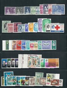 FIJI 1937-74 several complete commemorative sets mostly MLH
