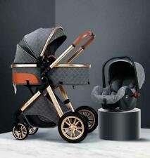 Cochecito de bebé de lujo premium 3 en 1 diseño de cochecito de paisaje...