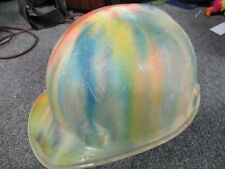 Cool 1960's Jackson Hard Hat Rainbow Tie dye color w. suspension Groovy!