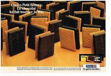 Publicité Advertising 1984 (2 pages) Biscuit Choco Petit Beurre de Bahlsen