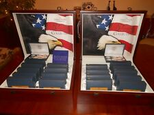 World Reserve Monetary System U.S. State Quarters Collection  P & D in  Cases