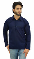 Atasi Bleu Kurta Roll-Over Shirt Homme Collier Ras De Cou Vêtements--3qz