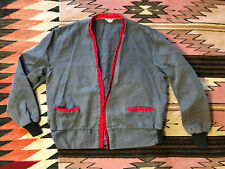 Vintage 1940's 50's Jupiter Workwear Cardigan Jacket Rockabilly S/M Cotton Rare