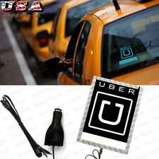 UBER Sign Logo Illuminated Glowing Decal for Rideshare Drivers Blue Led NEW 12V