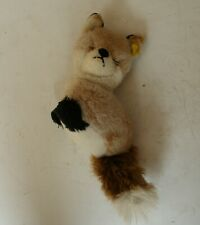 Old Kid's Plush Toy in the Shape of a Fox. Made in DDR.