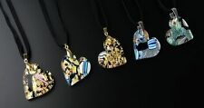 Original Murano Pendant form hears made with real silver/gold leaf and murrine
