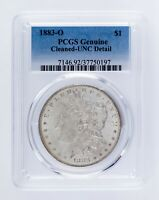 1883-O $1 Silver Morgan Dollar Graded by PCGS as UNC Detail (Cleaned)