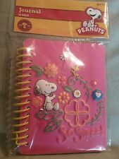 """SNOOPY JOURNAL 3D  SNOOPY JOURNAL """"SO SWEET"""" PINK  60 SHEETS NEW"""