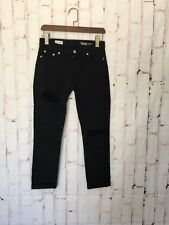 Gap Womens Jeans Size 25 Black Ripped Knees Girlfriend Jeans