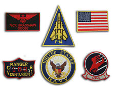 TOP GUN GOOSE NICK BRADSHAW US ARMY NAME TAG FLIGHT JACKET IRON ON 6 PATCH SET