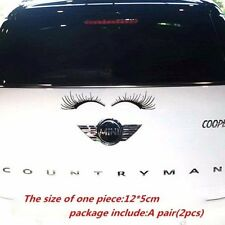 A Pair of Auto Car Lashes Auto Logo Eyelashes Stickers Decor Accessories