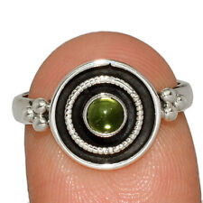 Peridot 925 Sterling Silver Jewelry Ring s.7 AR166632 201M
