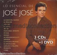 Lo Esencial De Jose Jose 3 CD + 1 DVD NEW Gavilan O Paloma  OUT OF PRINT!