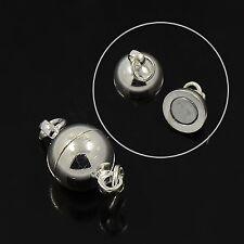 5x Magnet Schließer 14x8 mm Verschluss Schmuck Kette Verbinder Platin (1331)
