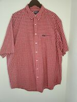 Chaps Ralph Lauren Short Sleeve Button Down Shirt  2XL Casual Red Plaid