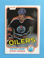 KEVIN LOWE ROOKIE 1981-82 O-Pee-Chee Hockey Card #117 EDMONTON OILERS