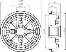 MINTEX MBD055 BRAKE DRUM Rear